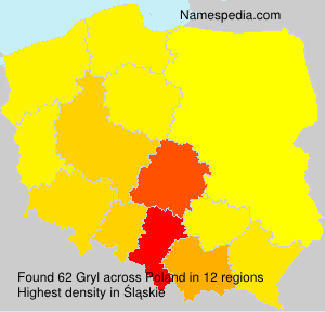 Surname Gryl in Poland