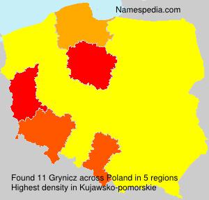 Surname Grynicz in Poland
