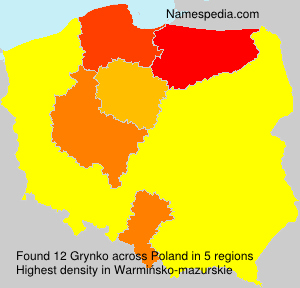 Surname Grynko in Poland