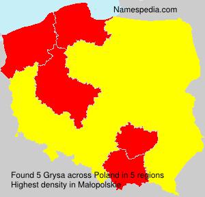 Surname Grysa in Poland