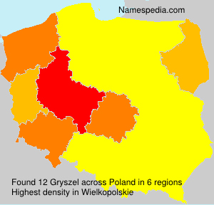 Surname Gryszel in Poland