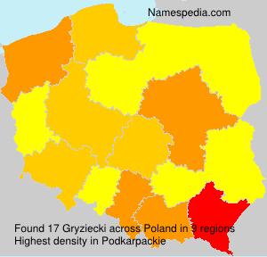 Surname Gryziecki in Poland