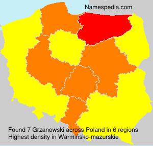 Surname Grzanowski in Poland