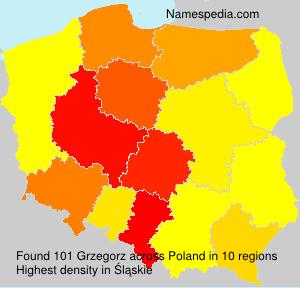 Surname Grzegorz in Poland