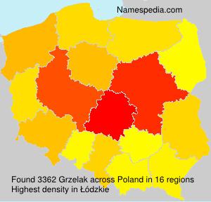 Surname Grzelak in Poland