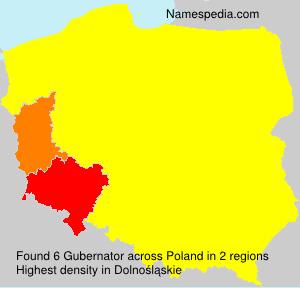 Surname Gubernator in Poland