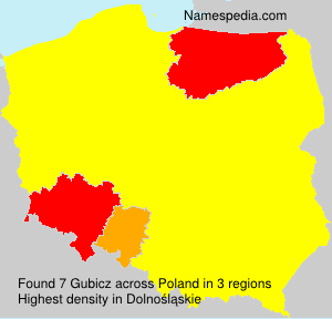 Surname Gubicz in Poland