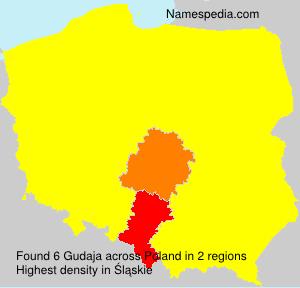 Surname Gudaja in Poland