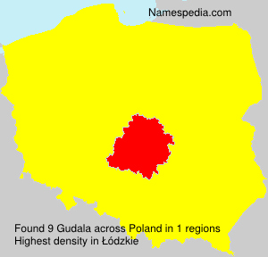 Surname Gudala in Poland