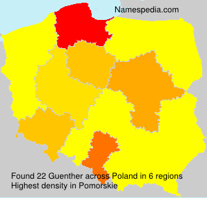 Surname Guenther in Poland