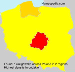 Surname Guligowska in Poland