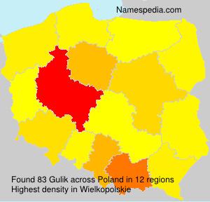 Surname Gulik in Poland
