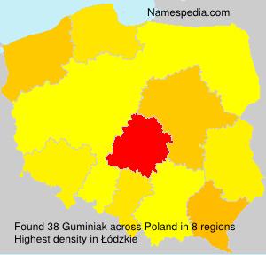 Familiennamen Guminiak - Poland
