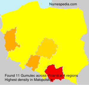 Familiennamen Gumulec - Poland