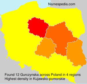 Surname Gurczynska in Poland