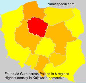Surname Guth in Poland