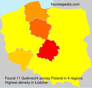 Surname Gutknecht in Poland