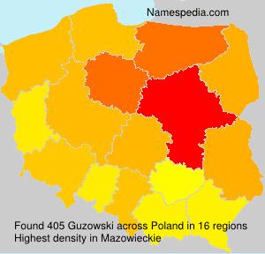 Surname Guzowski in Poland