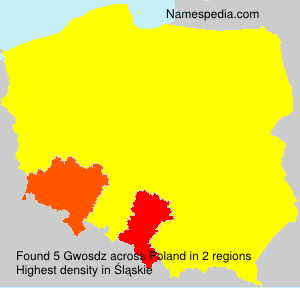 Surname Gwosdz in Poland