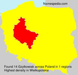 Familiennamen Gzylkowiak - Poland