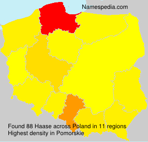 Surname Haase in Poland
