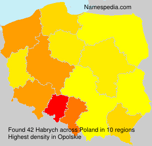 Surname Habrych in Poland