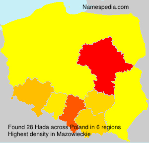 Surname Hada in Poland