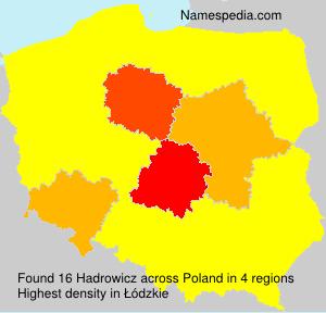 Familiennamen Hadrowicz - Poland
