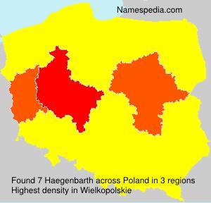 Surname Haegenbarth in Poland