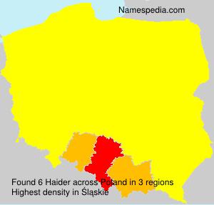 Surname Haider in Poland
