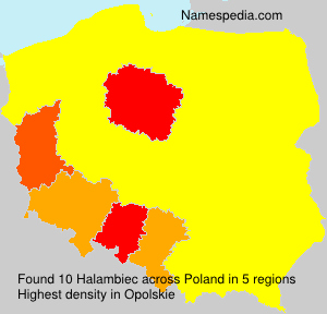 Surname Halambiec in Poland