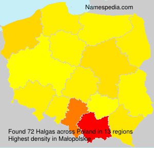 Surname Halgas in Poland