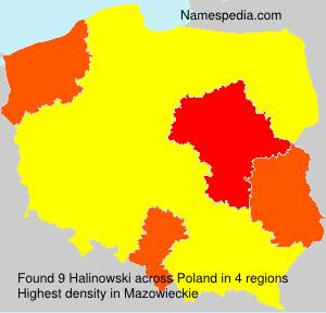 Surname Halinowski in Poland