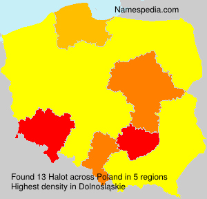 Surname Halot in Poland