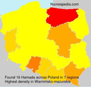 Familiennamen Hamada - Poland