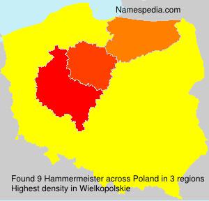 Surname Hammermeister in Poland