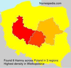 Familiennamen Hamny - Poland