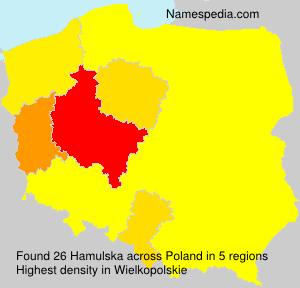 Surname Hamulska in Poland