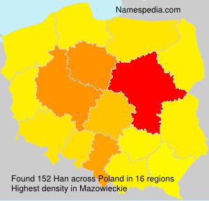 Surname Han in Poland