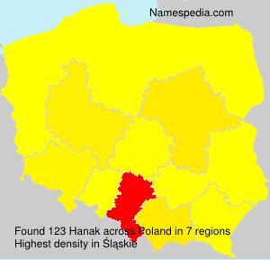 Surname Hanak in Poland