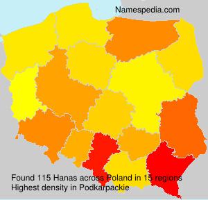 Surname Hanas in Poland