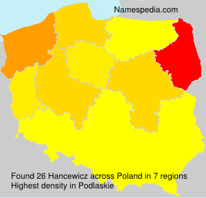 Surname Hancewicz in Poland