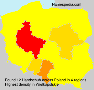 Surname Handschuh in Poland