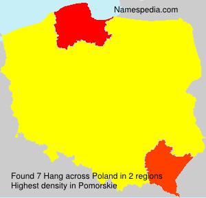 Surname Hang in Poland