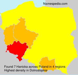 Familiennamen Hanicka - Poland