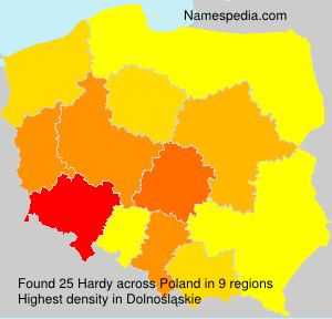 Surname Hardy in Poland