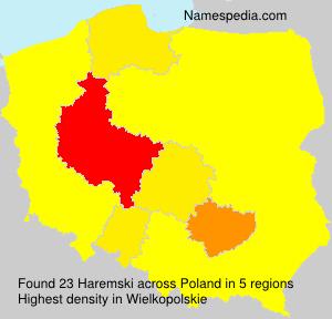 Surname Haremski in Poland