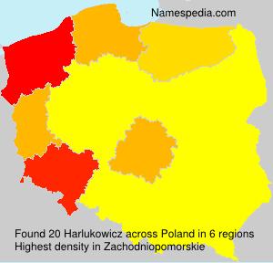 Surname Harlukowicz in Poland