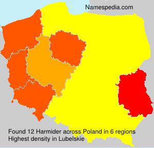 Familiennamen Harmider - Poland