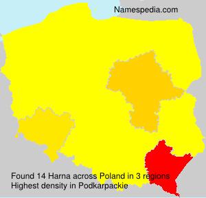 Surname Harna in Poland